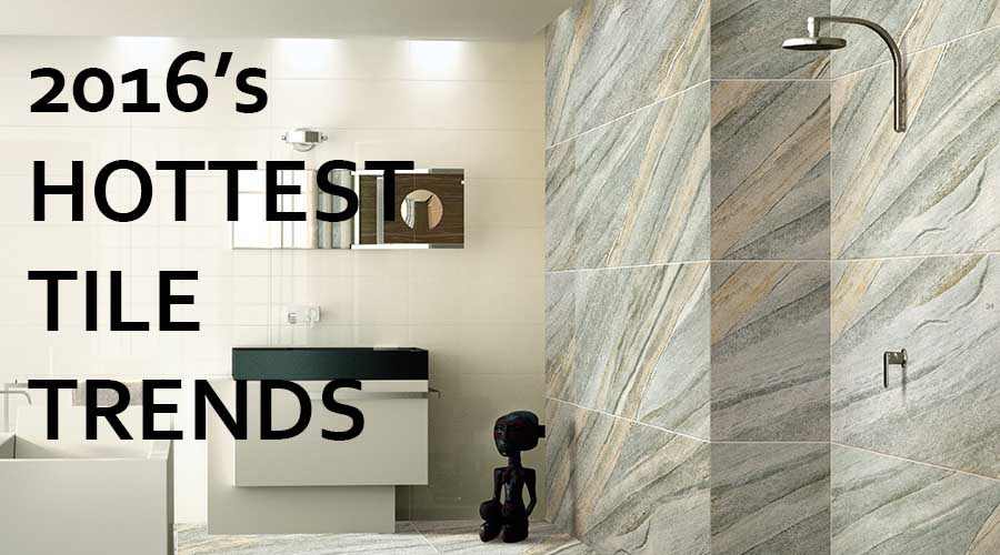 4 of the hottest tile trends for 2016 for New bathroom trends 2016