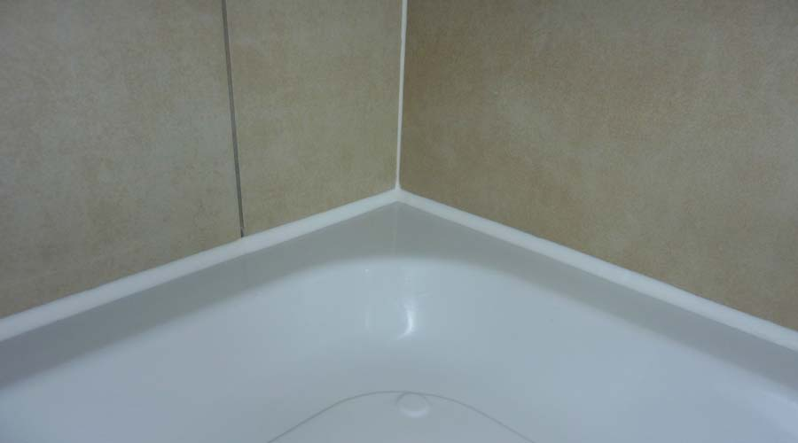... Tiles Correctly Sealed To The Shower Tray With Silicone Sealant Part 74