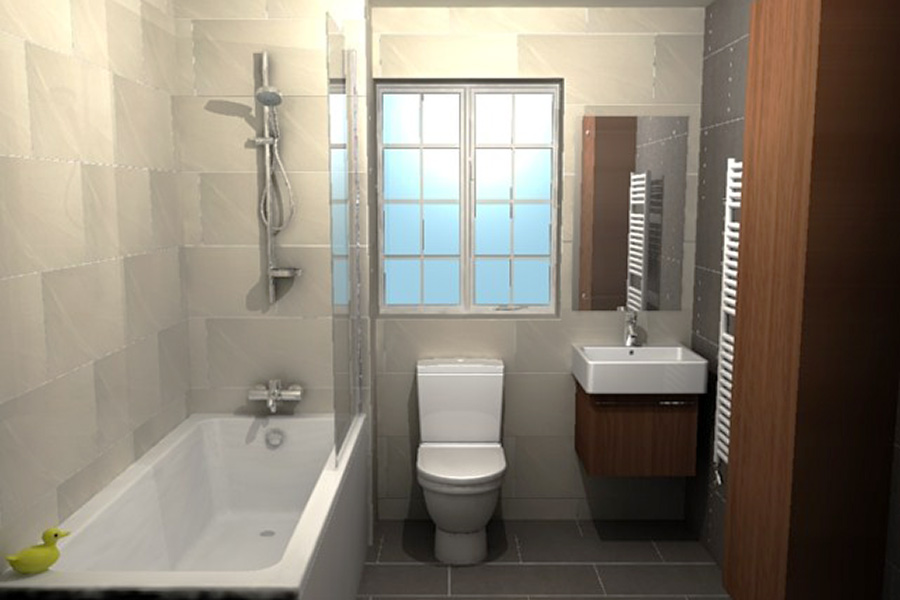 Light Wall Tiles Make This Small Bathroom With Over Bath Shower Seem Much Larger