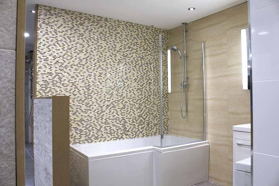 Statement making bathroom tiles the mosaic and stone effect