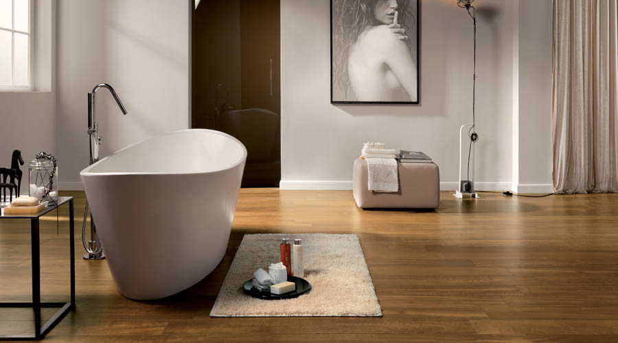 Luxury Bathroom Floors Tiles: Stone And Wood Effect Tiles Are Just So Realistic