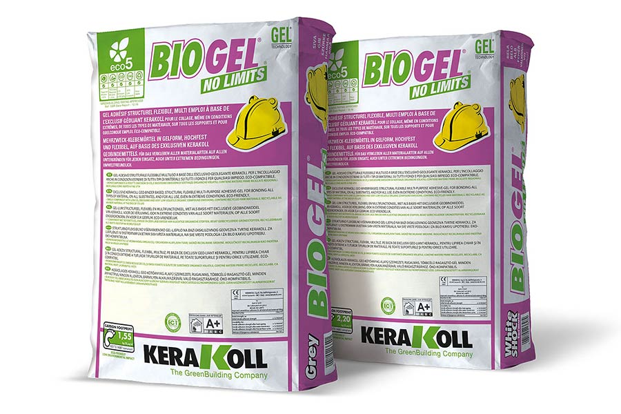 Kerakoll Bio Gel No Limits is a multi purpose high performance tile adhesive for tiling bathroom walls and floors