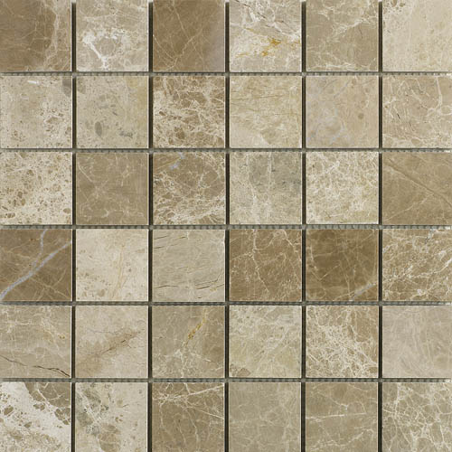 Imperial Dark polished marble mosaic 48x48mm tiles for bathrooms