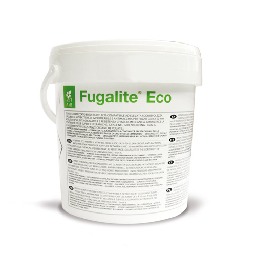 Kerakoll FUGALITE ECO waterproof tile grout and adhesive for mosaic tiles and wet areas such as pools and wetrooms