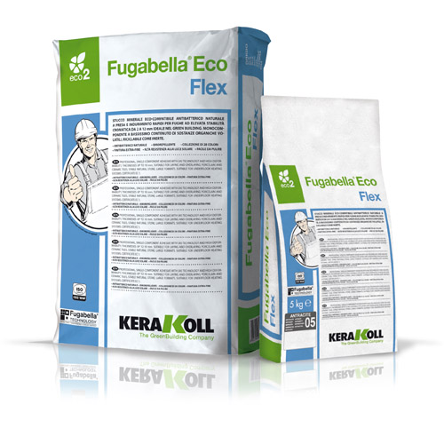 Kerakoll FUGABELLA FLEX ECO flexible tile grout for indoor and outdoor use