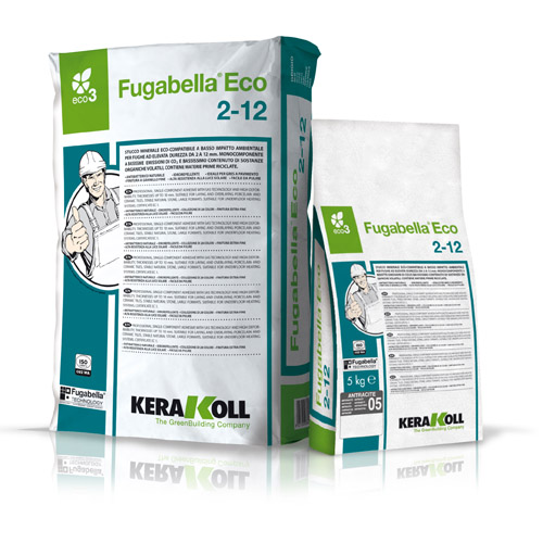 Kerakoll FUGABELLA 2-12 ECO bacteriostatic and fungistatic stabilised mineral grout for tiles