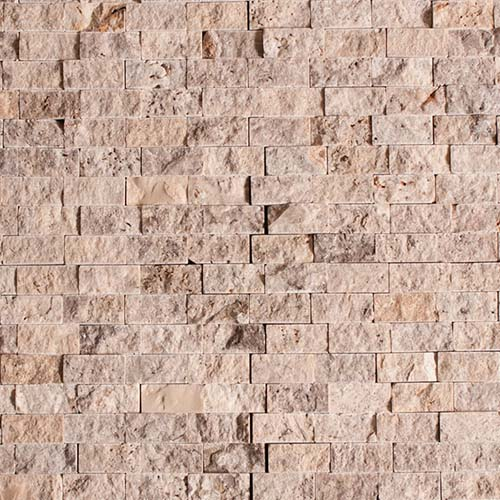 Silver Travertine Split Face Stone Tiles