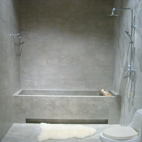 Light Grey Concrete Look Porcelain Tiles