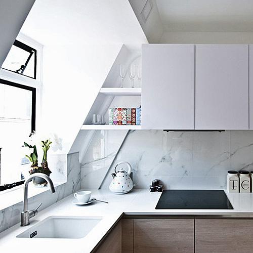 Marble Design For Kitchen: Carrara White Marble Effect Porcelain Wall & Floor Tiles