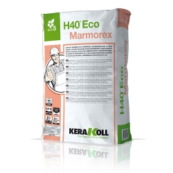 Kerakoll H40 ECO MARMOREX extra fast setting and hardening mineral adhesive for natural stone 25kg 01034