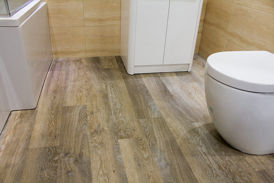 Karndean Knight Tile Arctic Driftwood effect luxury vinyl flooring on display at UK Tiles Direct in Wareham Dorset