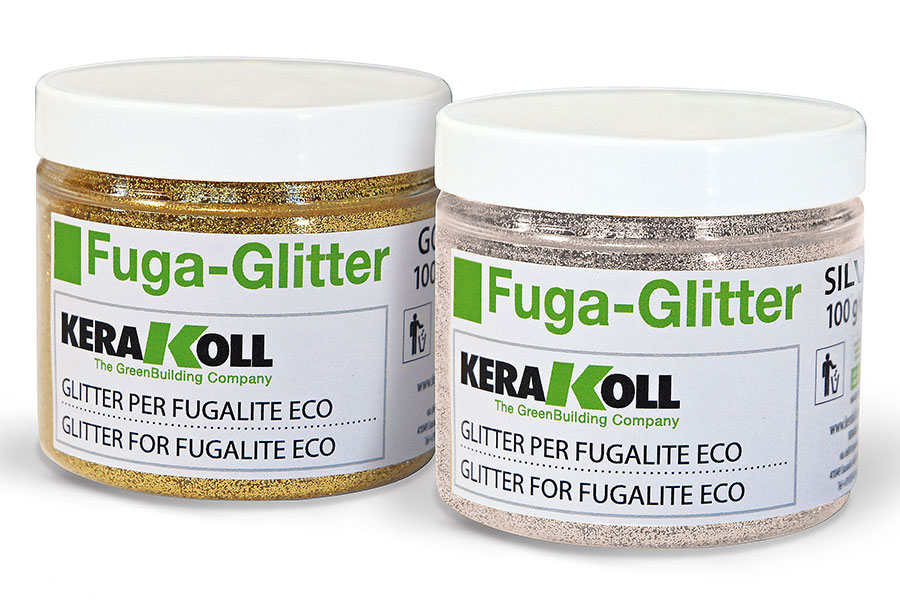 Kerakoll gold and silver glitter grout additive