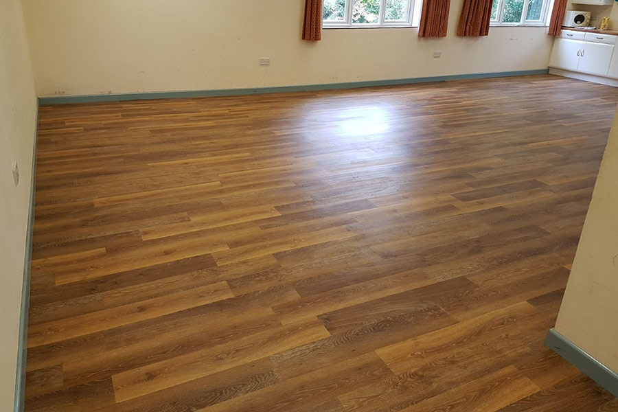 Stoborough village hall in Warehan with new Classic Limed Oak Karndean flooring installed by UK Tiles Direct