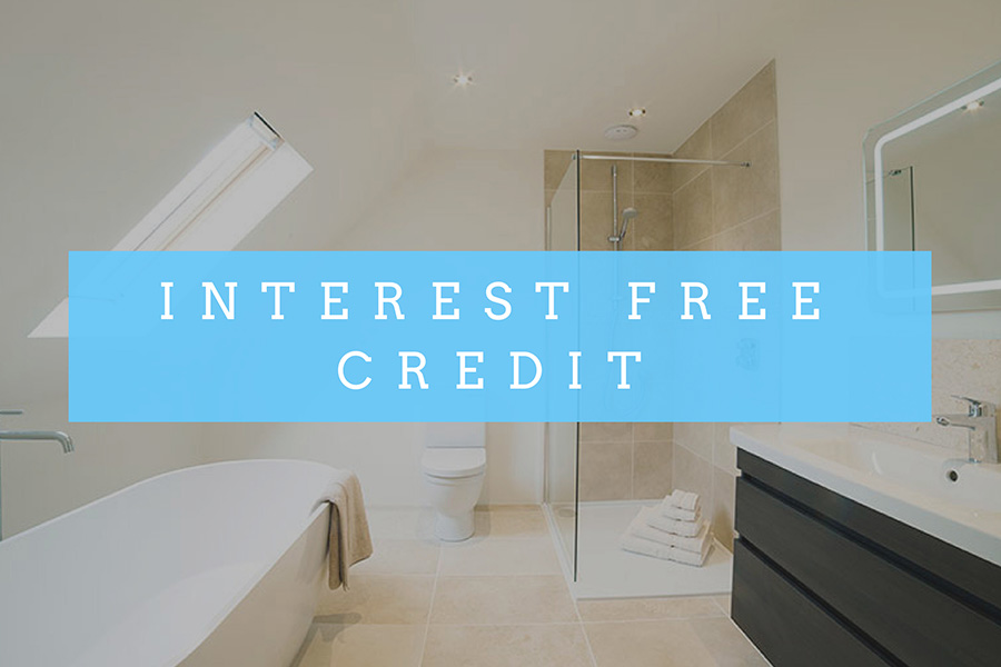Interest free credit for new tiles banner