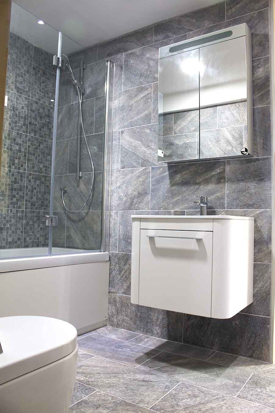 Ideas tips for creating stylish over bath showers - Tiles for bathroom walls and floors ...