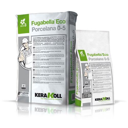 Kerakoll FUGABELLA PORC 0-5 ECO mineral tile grout for indoor and outdoor use