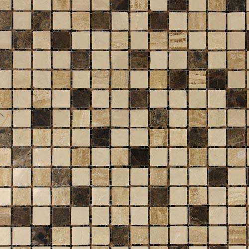 Beige Amp Brown Stone Square Segment Mosaic Tiles In 30x30cm