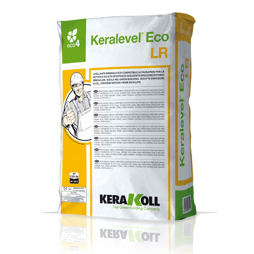 Kerakoll KERALEVEL ECO LR 01153 fast setting mineral levelling compound