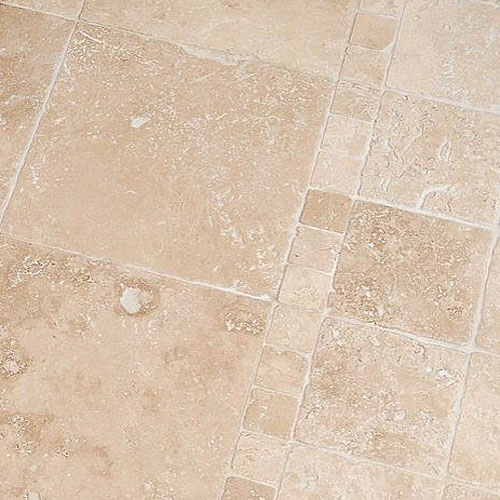 Tumbled Light Beige Stone Effect Travertine Wall Floor: Light Beige Antique Tumbled Travertine Tiles For Walls