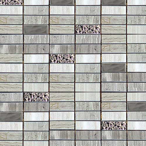 Greystone 15x48mm natural stone mosaic tiles in 30x30cm sheets