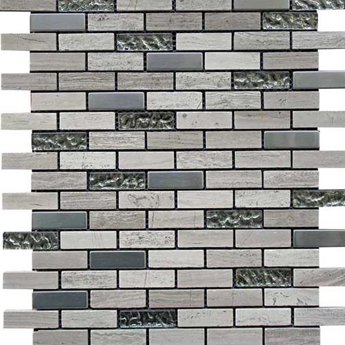 Greystone brick pattern natural stone mosaic tile in 30x30cm sheets