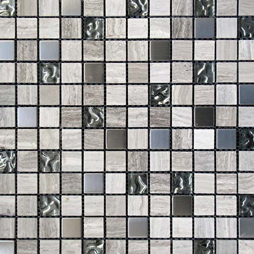 Greystone 23x23mm mosaic tiles in 30x30cm sheets for interior walls