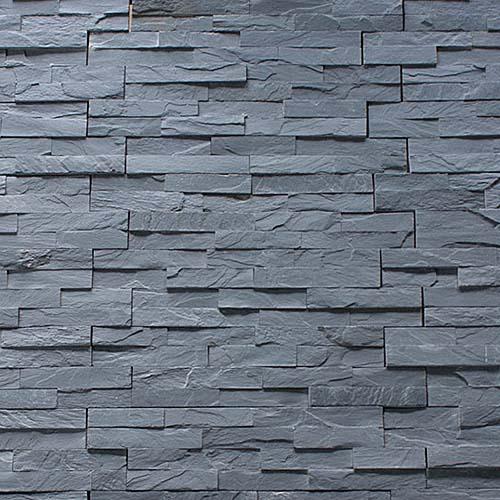 Black Natural Slate Split Face Mosaic Wall Tiles