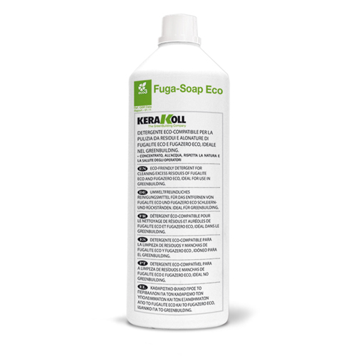 Kerakoll FUGASOAP Eco detergent for removing Fugalite grout from the surface of ceramic and stone tiles
