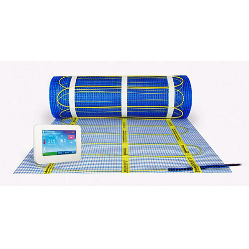 Thermonet BASIC electric underfloor heating self adhesive mat roll with Thermotouch thermostat