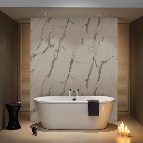 Nuance Calacatta Statuario Marble Effect Effect Wet Wall