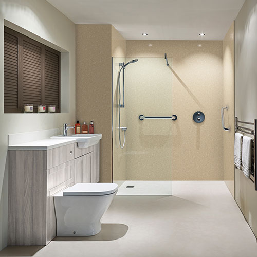 Classic Travertine BB Nuance Shower Boards
