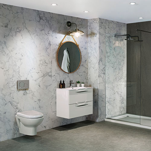 Grey Marble Effect Wet Wall Panels
