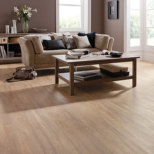 Living room floor featuring Karndean Opus wood effect vinyl flooring