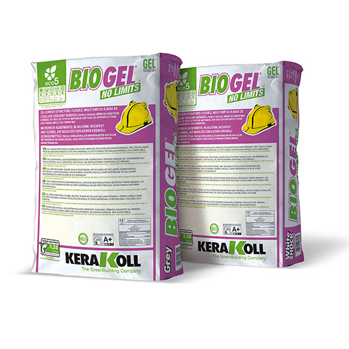 Kerakoll Biogel No Limits flexible tile adhesive for all types of wall and floor tiles
