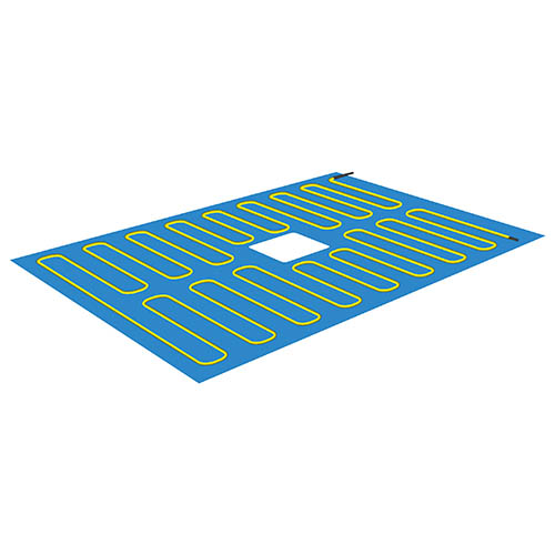 Thermonet shower tray electric heating mat 1500mm x 800mm with central drain