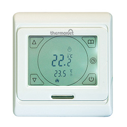Thermonet touchscreen electric underfloor heating thermostat in white 5259