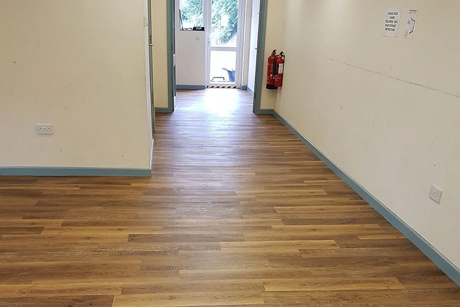 This might look like real wood but it is planks of high quality oak effect vinyl flooring